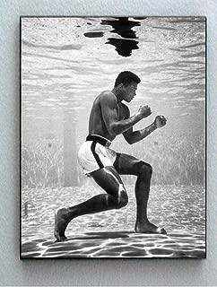 Rare Framed 1961 Muhammad Ali Training Underwater Vintage Photo. Jumbo Giclée Print