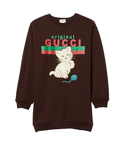 Gucci Kids Cat Logo Tunic Dress (Little Kids/Big Kids)