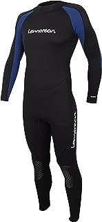 Lemorecn Mens Wetsuits Jumpsuit Neoprene 3/2mm and 5/4mm Full Body Diving Suit for Men and Women