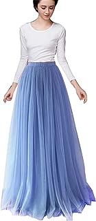 Women Long Tulle Skirt Dress Floor Length for Wedding Bridal Bridesmaids High Waisted Maxi Tutu Party Dress