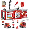FunLittleToys 59-Piece Fire Truck Toys