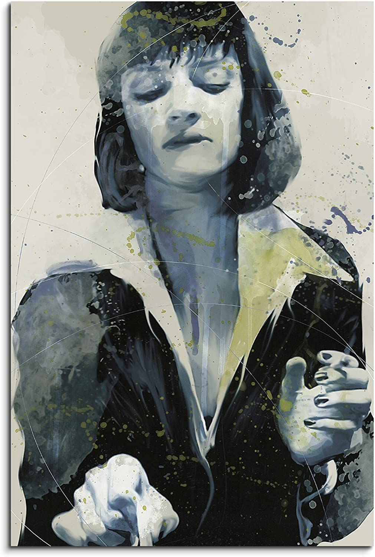 Uma Thurman Pulp Fiction Aqua 90x60cm - Splash Art Paul Paul Paul Sinus Wandbild auf Leinwand - Malerei, Kunstbild, Aquarell, Fineartprint B01EYNUMK6 2b137a