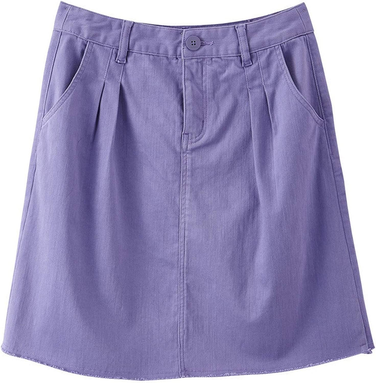 2019 Arrival Purple High Waist Slim Korean Fashion All Matched Women Short Skirt,Purple,L