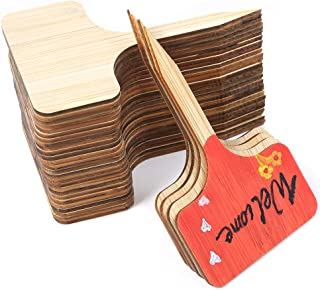 Sntieecr 80 Pieces Bamboo Garden Plant Labels Vegetable Herbs Gardening Markers T-Type Plant Tags Sign Tags with Box for Plants