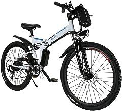 Amdirect bicicletta da montagna elettrica pieghevole con ruote di 26 pollici batteria litio