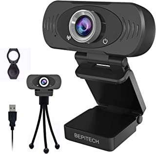 BEPiTECH 1080P Webcams-HD web Cam 90° WIDE ANGLE with Noise Reduction Microphone & Privacy Cover- USB Video Camera for Vid...