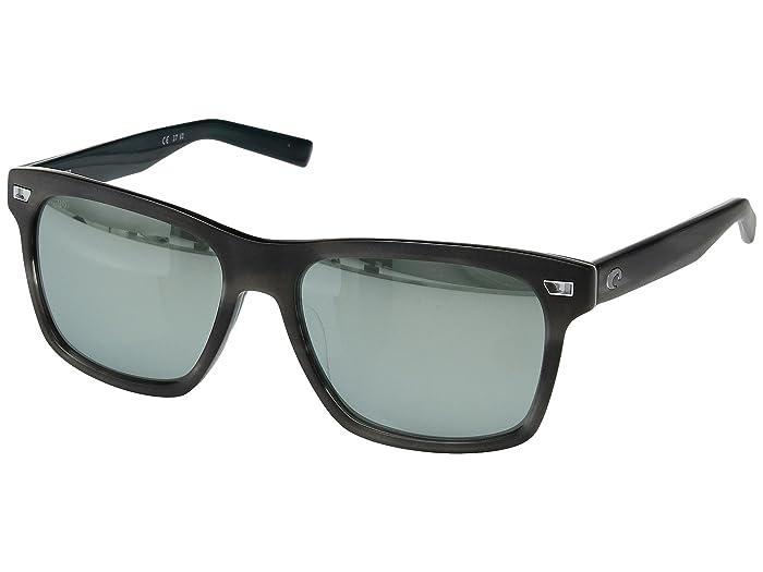 Costa  Aransas (Matte Storm Gray Frame/Gray/Silver Mirror 580G) Athletic Performance Sport Sunglasses