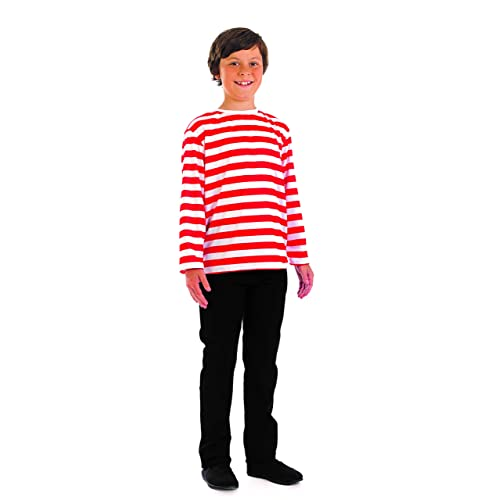 Fun Shack Child Fancy Dress Red   White Stripe Jumper Costume Extra Large 6cce2e3a7