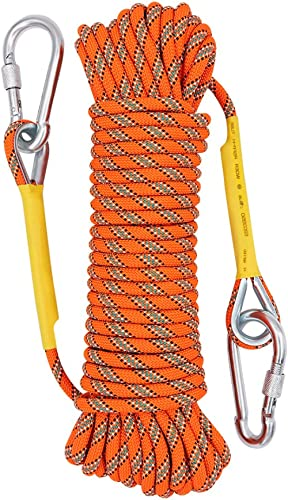 X XBEN Outdoor Climbing Rope 10M(32ft) 20M(64ft) 30M (96ft) 50M(160ft) 70M(230ft) 152M(500ft) 304M(100ft) Static Rock...