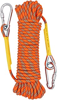 X XBEN Outdoor Climbing Rope 10M(32ft) 20M(64ft) 30M (96ft) 50M(160ft) 70M(230ft) Static Rock Climbing Rope, Escape Rope Ice Climbing Equipment Fire Rescue Parachute Rope