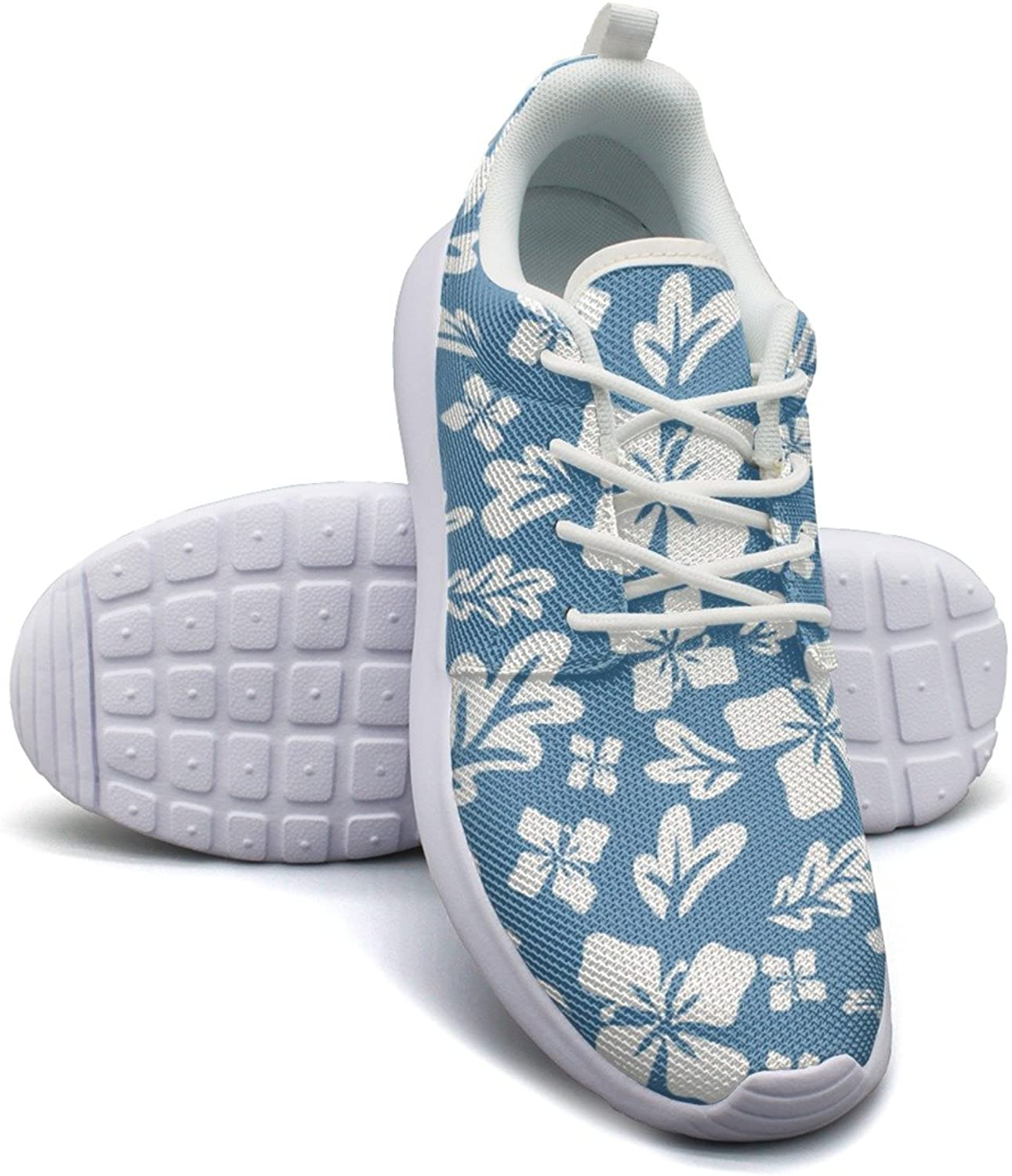 Tropical Summer Flowers Women's Fashion Running shoes Comfortable Mesh Lightweight Athletic Sneakers