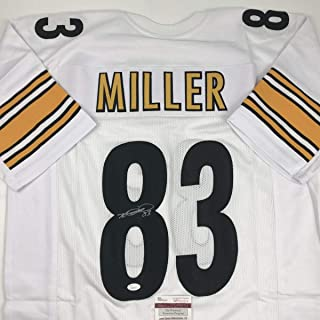 Autographed/Signed Heath Miller Pittsburgh White Football Jersey JSA COA
