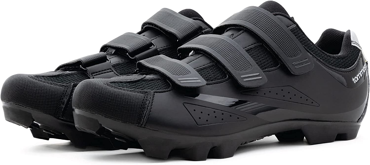 Tommaso Montagna 100 Men's Mountain Bike MTB Spin Cycling Shoe Compatible with SPD Cleats Black