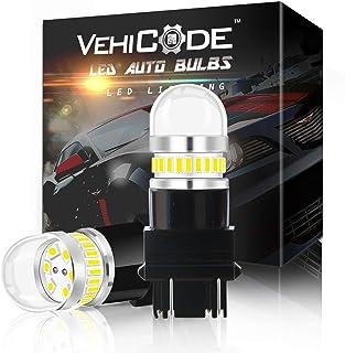 VehiCode Super Bright 950Lms 3157 Dual Function LED Light Bulb (6000K White) Kit - 3156 3457 3047 3057 4057 4157 4114 Repl...