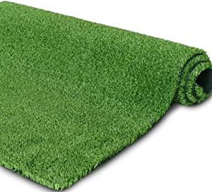 Synthetic Artificial Grass Turf for Garden Backyard Patio Balcony,Drainage Holes & Rubber Backing, Indoor Outdoor Faux Grass Astro Rug Carpet,DIY Decorations for Fence Backdrop (10 FTX 20FT)