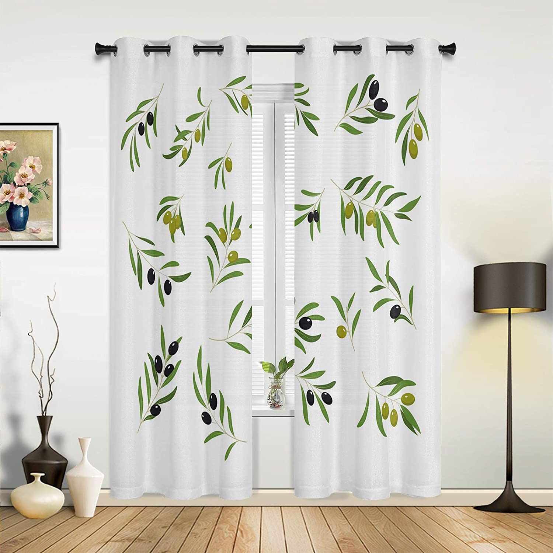 Window 5% OFF Curtains Drapes Panels Green Fruit Minimalist Black 4 years warranty Leaf
