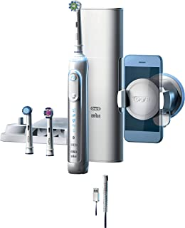 Oral-B 8000 Electronic Toothbrush, White, Powered by Braun