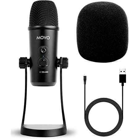 Movo UM700 Desktop USB Microphone for Computer with Adjustable Pickup Patterns Perfect as a Podcast Microphone, Streaming Microphone, Gaming Microphone, and More