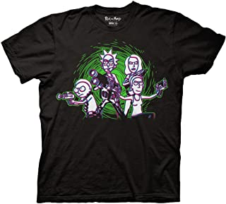 Ripple Junction Rick and Morty Adult Family with Guns 100% Cotton Crew T-Shirt