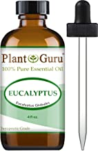 Eucalyptus Essential Oil 4 oz 100% Pure Undiluted Therapeutic Grade for Aromatherapy Diffuser, Sinus Relief, Allergies, Cold and Flu, Cough, Nasal and Chest Congestion
