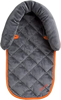 Diono Head Support, for Use in Car Seats, Infant Carriers, and Strollers, Soft Quilted Plush-Filled Padding, Grey/Orange
