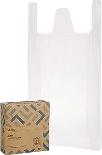 [Amazonブランド] SOLIMO 半透明とって付きごみ袋 30L 150枚