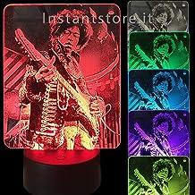 Lampada led personalizzata con la tua foto su plexiglass esempio jimi hendrix lampada Led 3d