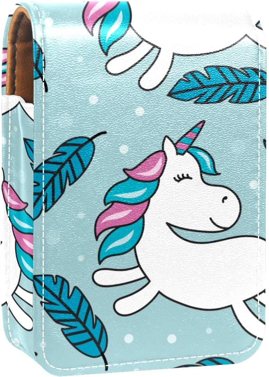 Unicorn Blue Lip Clearance SALE! Limited time! Gloss Max 73% OFF Holder Case Lipstick Portable Makeup Bag
