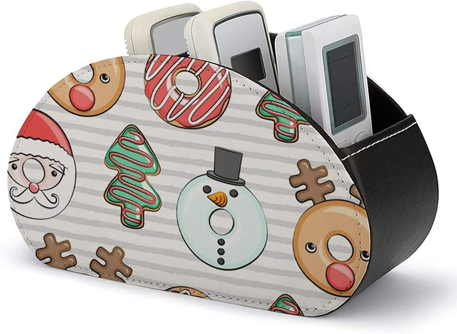 Leather Sale price Super beauty product restock quality top Remote Caddy - Holder Control PU Christma