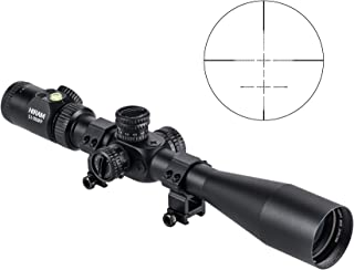 Hiram 5-20 x 50 BDC Rifle Scope Side Focus Button Control Brightness Level w/Circular Bubble Level & First Focal Plane for Shooting & Hunting