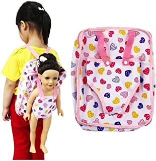 Lovely Doll Bag - Storage for Doll Clothes and Accessories- Fits 15 to 18 Inch Dolls Backpack Carrier Adorable Accessories