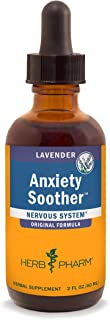 Herb Pharm Anxiety Soother Liquid Herbal Formula with Kava for Nervous System Support - 2 Ounce
