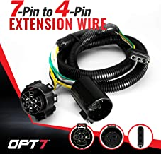 OPT7 7 to 4 Pin Tailgate Trailer Light Connector Adapter Extension- 4 FT