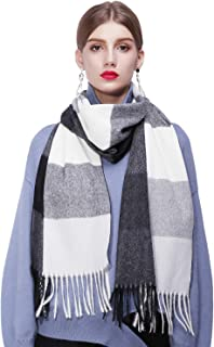 YIMIHUASHA Winter Blanket Scarfs For Women Valentine's Day present, Fashion Plaid Warm Tartan Shawl and Wrap with Fringe T...