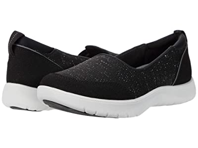 Clarks Adella Blush (Black Sparkle Textile) Women