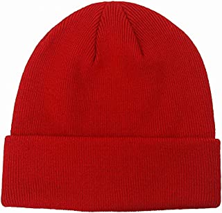 55cube Knit Beanie Hat Cuffed Plain Skull Cap for Men Women