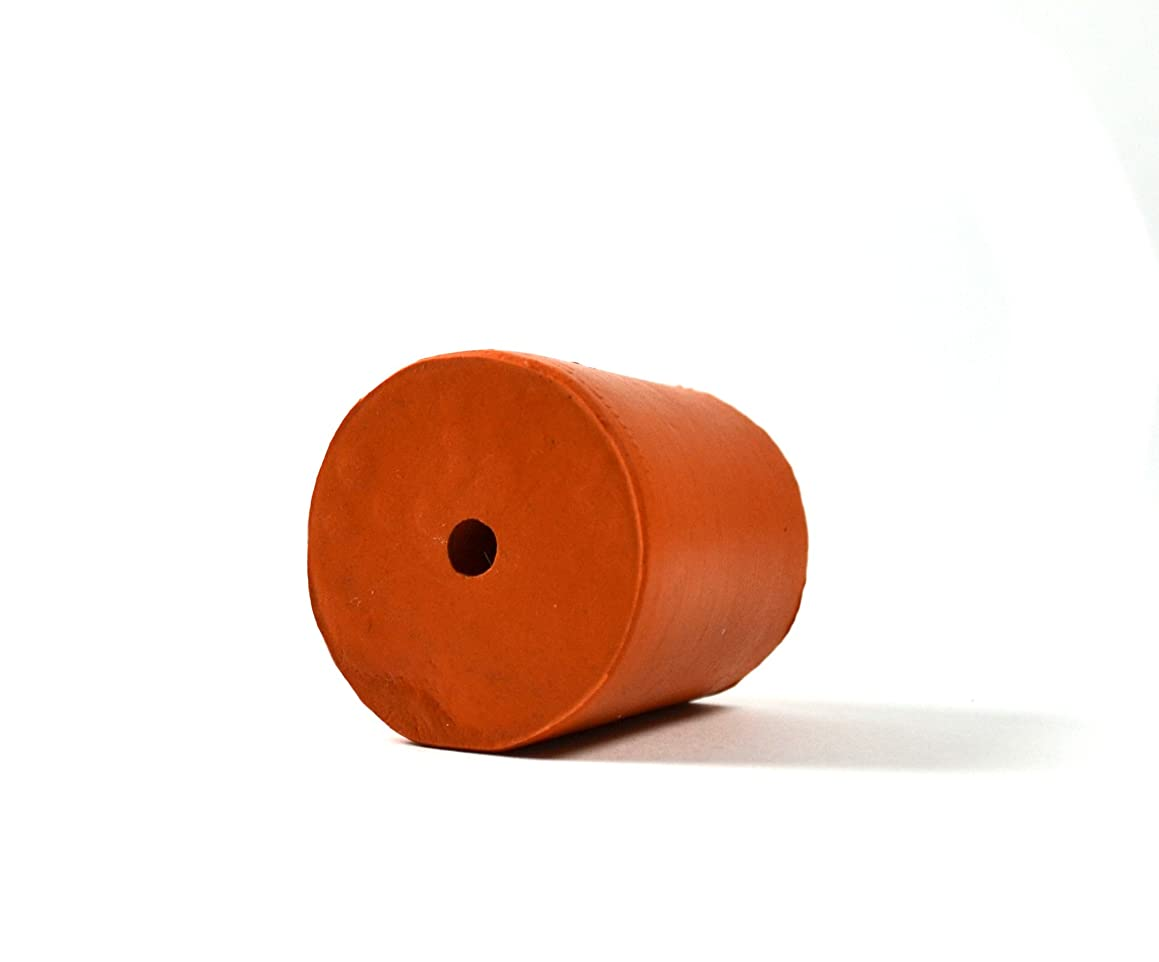 Rubber Stopper - 1 Hole - 27x31mm Top/Bottom - 32mm Length