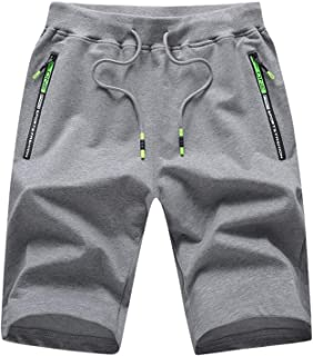 LY4U Pantalones Cortos para Hombre Pantalones Cortos Deportivos de Verano Pantalones Cortos Deportivos Cintura elástica co...