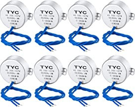 SATINIOR Electric Motor Synchronous Motor Turntable Synchron Motor 100-127Vac 50/60Hz 4W CCW/CW Direction for Hand-Made, School Project, Model or Guide Motor (5-6RPM, 8 Packs)