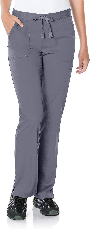 Landau Women's 5-Pocket, Contemporary Slim Fit 50/50 Drawstring