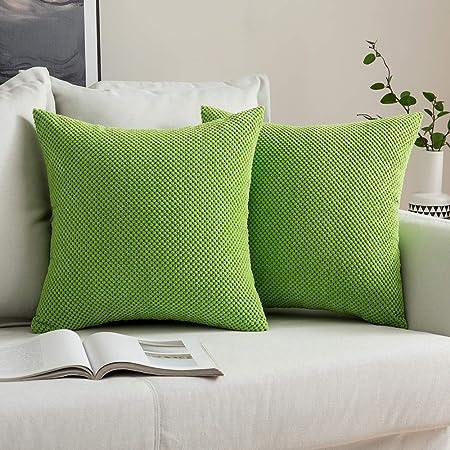 per giardino tenda cortile quadrate , 45 x 45 cm, giallo fodera non inserto Set di 4 federe per cuscino per esterni impermeabile decorative
