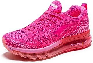 ONEMIX Femme Chaussures de Course Running Sport Compétition Trail Basket Coussin d'air Respirantes Sneaker