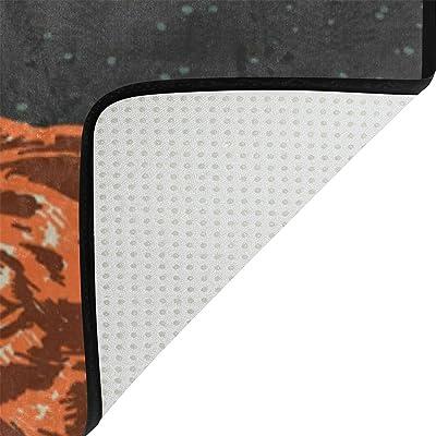 Alfombra Moderna y cómoda de IsAOA para Perro, 3 x 2 pies Resistente, Alfombra