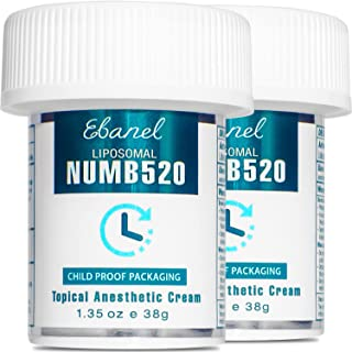 Ebanel 5% Lidocaine Topical Numbing Cream for Painkilling, 2 Pack 2.7oz Max Strength Pain Relief Cream Ointment Anesthetic...