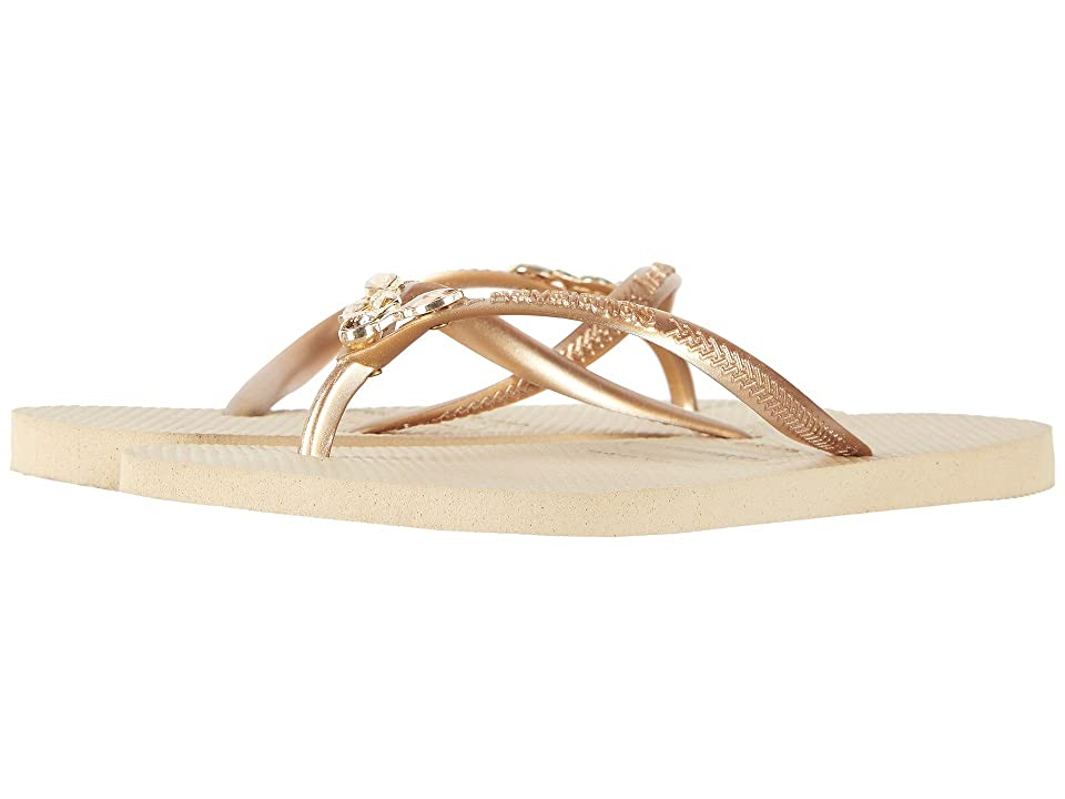 fe94d7858  60.00 More Details · Havaianas Slim Lux SW Flip Flops (Sand Grey New Gold) Women s  Sandals