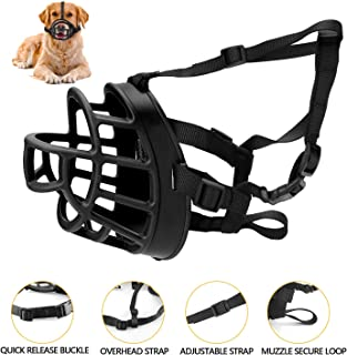 MEKUULA Dog Muzzle, Breathable Basket Muzzles for Small, Medium, Large and X-Large Dogs, Stop Biting, Barking and Chewing, Best for Aggressive Dogs