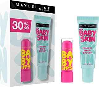 Maybelline New York New York New York Set of 2 Pieces Baby Skin Primer with Baby Lips Lip Balm - Pack of 1