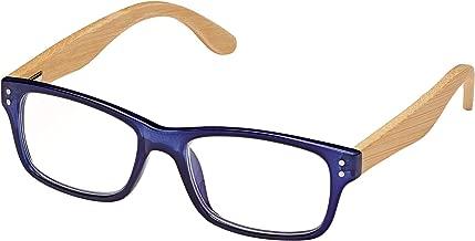 BLUE PLANET Reading Glasses Eco Friendly Men Women Sustainable Bamboo Ladies Designer Eyeglasses Blue +1.75