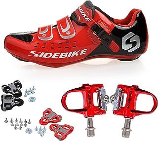 Injoyo V/élo De Montagne Unisexe VTT Spin Cycling Shoe Avec Boucle Fit SPD Cleats Rouge