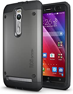 TUDIA Tough OMNIX [Heavy Duty] Hybrid Full-body Protective Case with Front Cover and Built-in Screen Protector for ASUS Ze...